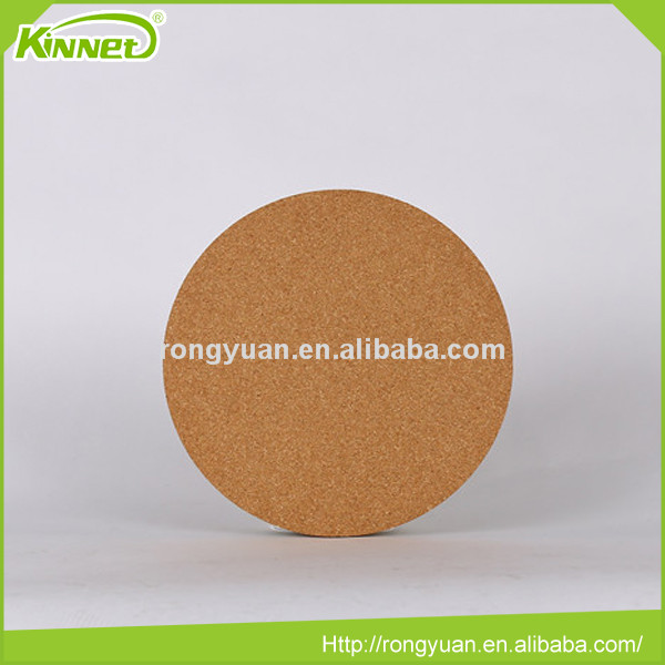 China Supplier wall mounted decorative round shape cork board