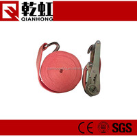 Safety cargo lifting retractable ratchet strap