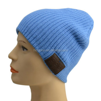 Factory price for new markets cable knit beanie caps bluetooth headphone/ bluetooth music speaker caps