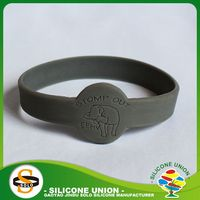 embossed with sayings silicone debossed bracelet customized debossed silicone wristband