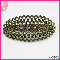Antique Hollowed plain metal spring Hair Clip For Lady