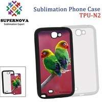 Rubber 2D Sublimation Case for Samsung Note 2 N7100
