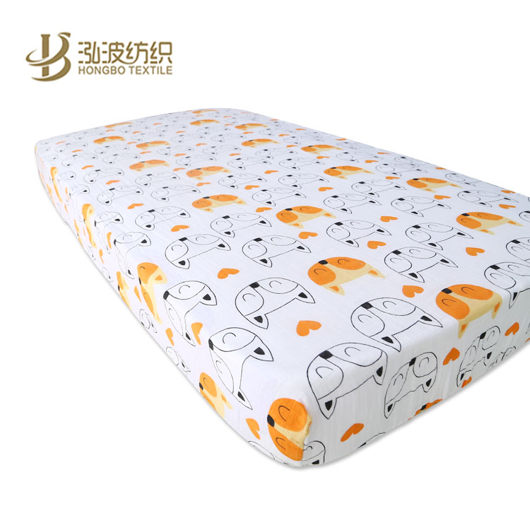 baby bedding soft cute design cotton or bamboo fiber cot sheet fitted crib sheet