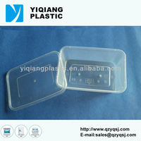 Plastic take away sunrise food container