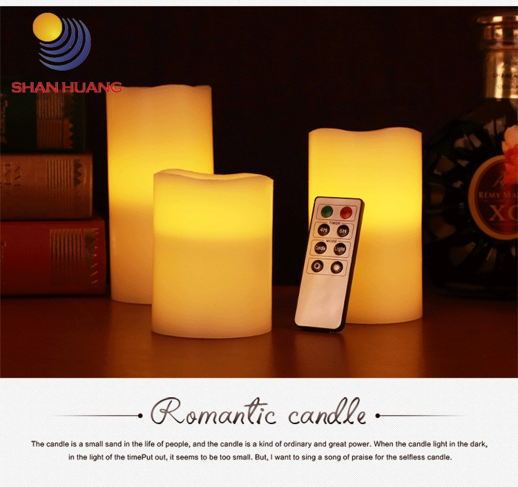 Hot sales 8 key Hand made candle flameless led candles light LED candle with Remote Control