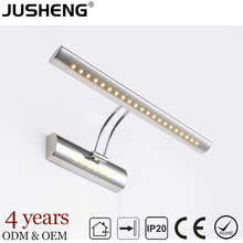 Hot sale modern indoor hotel bathroom & washroom mirror wall lamp led light with CE & RoHS certificate 100-240V AC JUSHENG