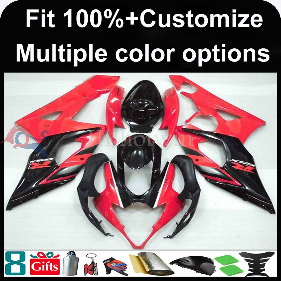 Manufacturer INJECTION MOLDING Fairing GSXR1000 2005 2006 motorcycle Fairing for Suzuki matte black GSX-R 1000 05 06 K5