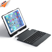 Detachable Bluetooth Keyboard Case for 9.7 inch iPad with Heavy Duty Full-body Rugged Shockproof Protective Case