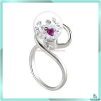 Best selling products women fancy heart ring silver 925