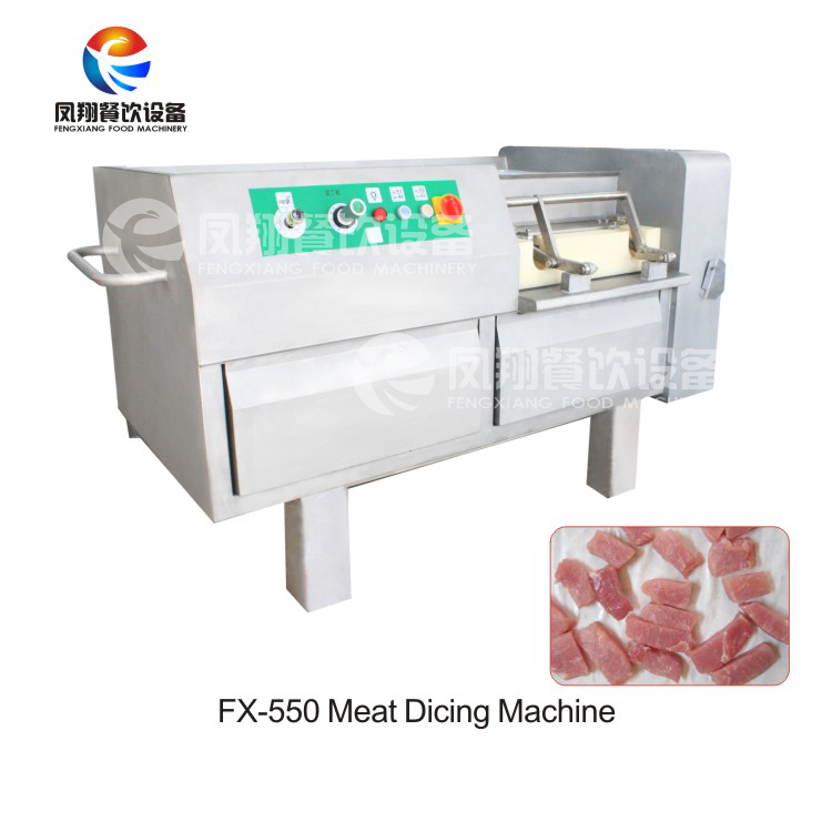 Cooked Meat Raw Pork Beef Dicer Frozen Chicken Breast Meat Cubes Cutting Machine with 4-30mm