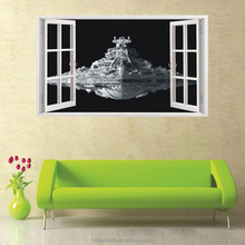 3D Fake window wall stickers Living Room wall decoration decals pvc removable waterproof sticker