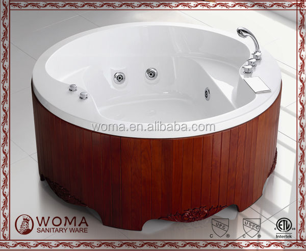 WOMA Q402 hydromassage acrylic round hot tub for adult