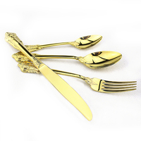 Popular Customized Disposable Gold Plated Hotel Buffet Cutlery