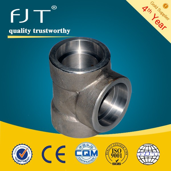 Forged pipe fitting threaded pipe fitting reducer tee