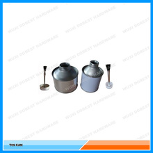 250ml metal tin can for PVC glue with brush applicator