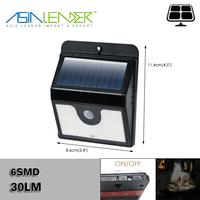 For Garden Wall Fence Gutter 6SMD Solar Night Shed Movement Sensor Light