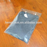 LDPE clear custom printed plastic slider ziplock bags for packing clothes