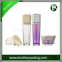 50g hexagon acrylic jar with lotion bottle whole cosmetic set series