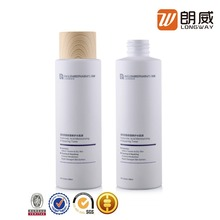 wooden finish frosted surface 200ml cosmetic body lotion cream pet plastic bottle