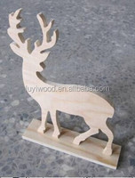 HOT SALE Christmas Decoration Standing Wooden Deer