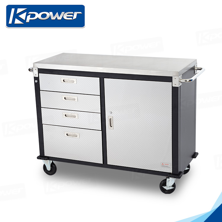 New Arrival Single Door Garage Trolley Tool Box On Wheels