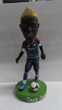 Guohao toy 3d custom football player action figure soccer player action figure