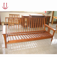 Wooden Futon Frame Sofa Bed For