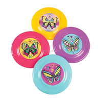 7 Inch New Design Plastic Colorful Fashion Butterfly Flying Discs Promotional Custom Cheap Outdoor Toys PP Frisbee Flying Saucer