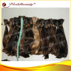 wholesale stock 100% virgin european hair unprocessed top quality human hair bulk hair extensions