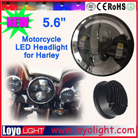 Favorable 5.75 inch 40w headlights led for harley , black or chrome cover headlamp replacement