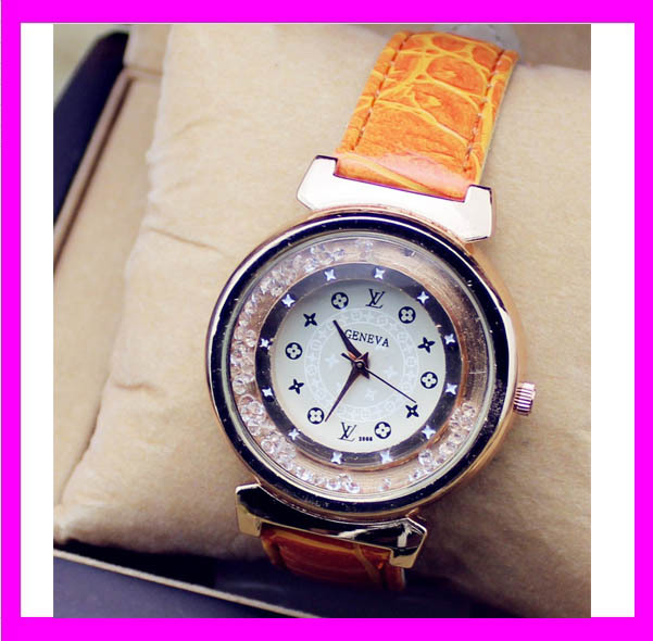 JC3355 Luxury new geneva soft band hand watch wholesale