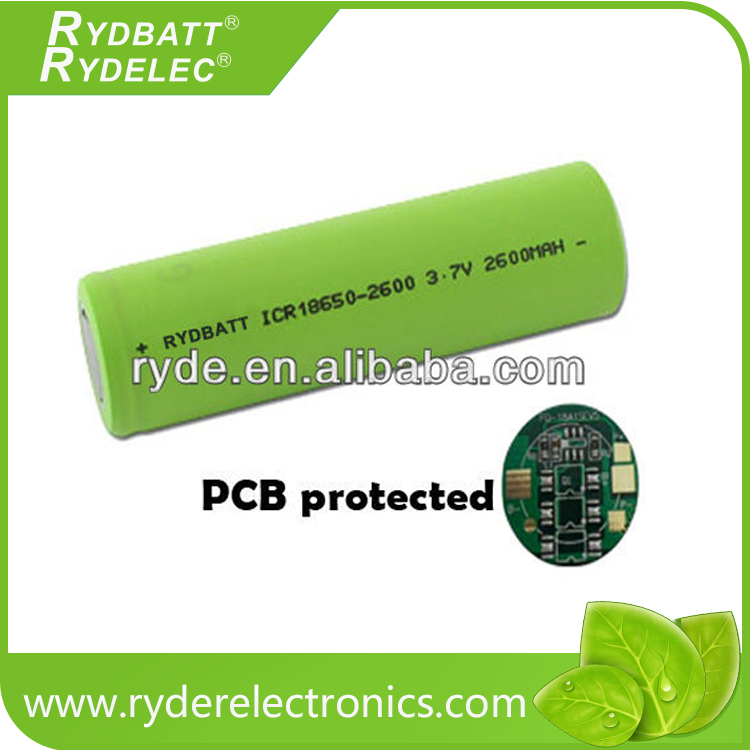 high drain rechargeable Li-Ion batteries 18650 3.6V 1500mAh 20A