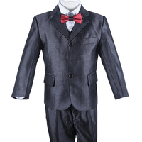 3 Piece Shining Grey Baby Boy Birthday Party Suit With Gray Pinstripe Kids Boy Formal Suit Set Free Shipping
