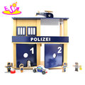 New hottest wooden crime police station toy set Includes dolls and furniture W06A286