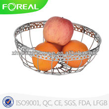 round metal wire shelf basket