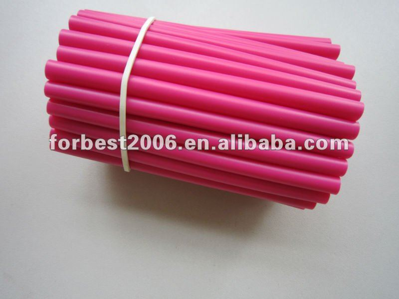 pvc tubing in pink in 10mm length segmented