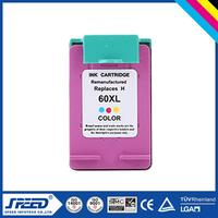 Wholesale Office Supply printer ink cartridge for hp 60 60xl with New Chip
