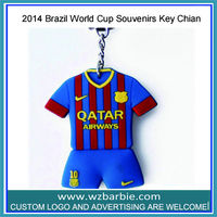2014 Brazil World Cup Rubber Keychain