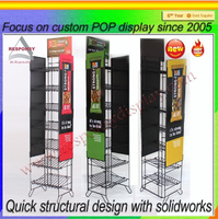 Customize wire shelf multiple colors metal Cadbury Chocolate display stand