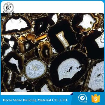 Best price of blue agate stone slab high quality