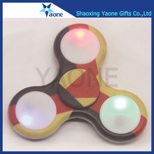 LED light colorful plastic ABS tri American German UK Italy France country flags custom spinner fidget toy