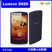 Original Lenovo S920 5.3 inch Quad Core MTK6589 1.2GHz 1G RAM 4G ROM 8MP IPS Screen Android 4.2 Multi-language Smartphone