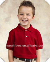 china supplier baby clothes customized ,top quality organic cotton youth polo shirt wholesale