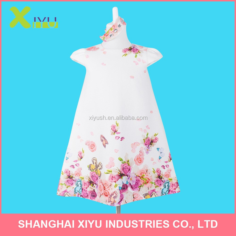 Good quality Well-designed fashion kids party wear flower girl dress