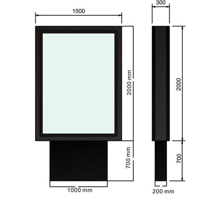 Billboard Led Price Of Window Frame Scrolling Poster