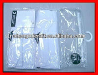 Clear Button PVC Suit Bag For packing