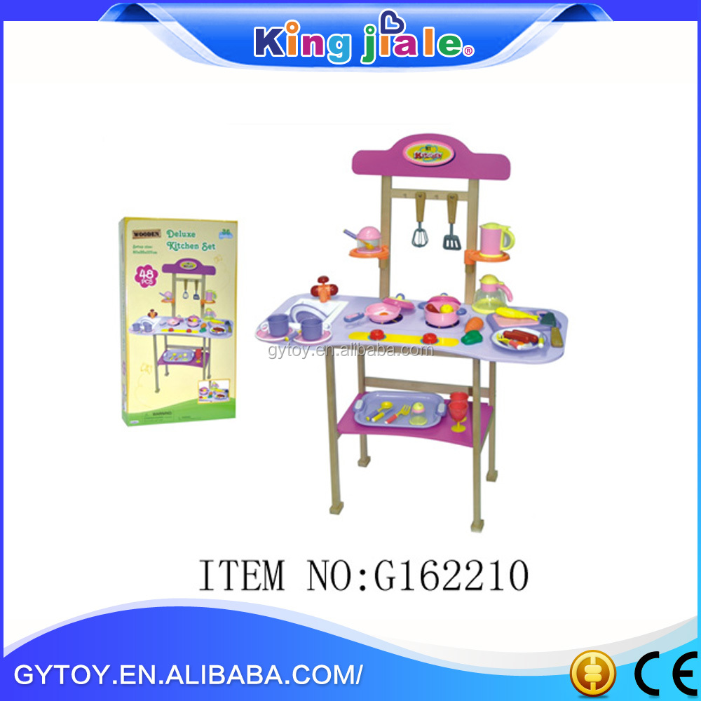 2017 deign promotional funny wooden kitchen sets toy