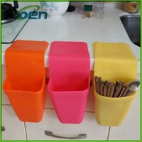silicone Suction-cup bins Multi-purpose bins Kitchen furniture supplies