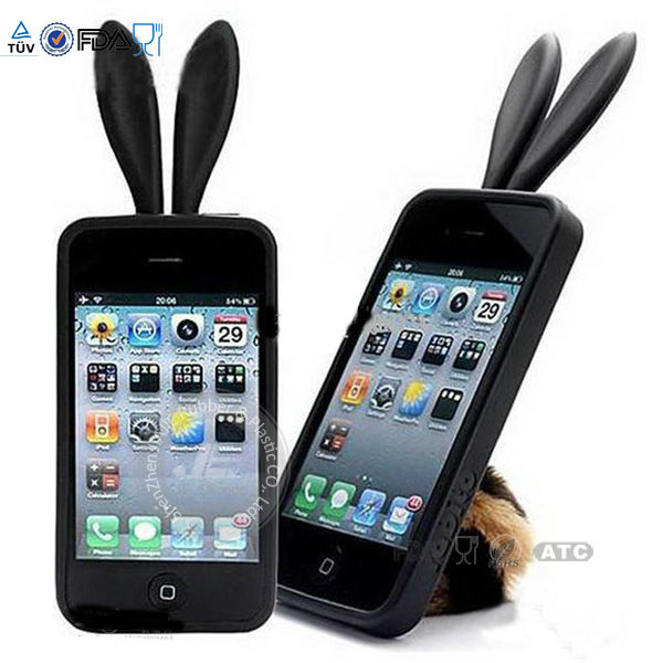 Lovely bunny case silicone rabbit bunny cover For iphone 4