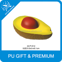 soft avocado shaped stress balls pu